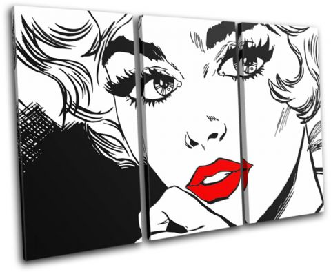 Sexy Popart Lips Illustration - 13-1268(00B)-TR32-LO